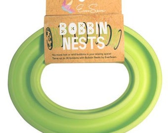 Bobbin Nests by EverSewn, in Sky Blue, Green, Pink and Blue