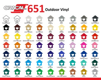 Oracal 651 Vinyl 12x12 -Permanent Craft Vinyl-Outdoor Vinyl-Decal Vinyl
