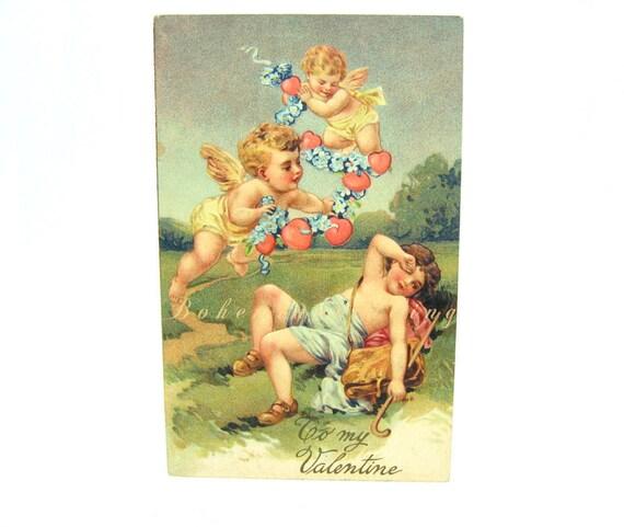 Antique Victorian Valentine's Day Postcard 1900s PFB