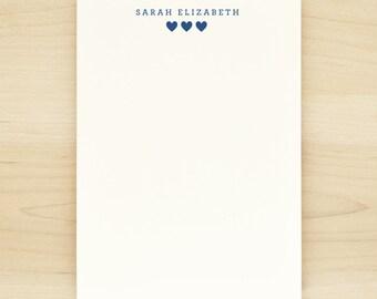 SUGAR Personalized Notepad - Heart Cute New Baby Girl Child Custom Letterhead