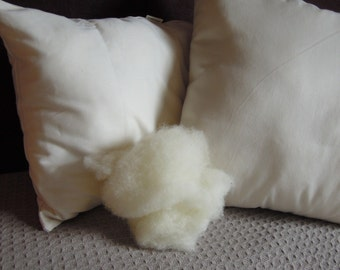 Wool Pillow Inserts, Organic Cotton, Pillow Forms, Pillow Inserts Wool, All Sizes