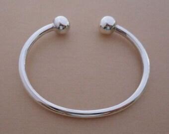 925 Sterling Silver Child's, Baby's Christening Torque BANGLE, Bracelet