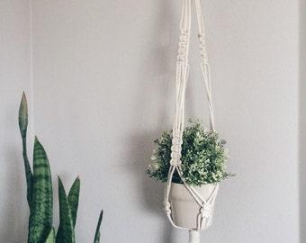 Macrame Plant Hanger / Indoor Plant Hanger / Hanging Planter