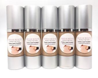 Medium to Full Coverage Liquid Foundation, Organic Full Coverage Foundation, Liquid Foundation, Foundation, Vegan Makeup