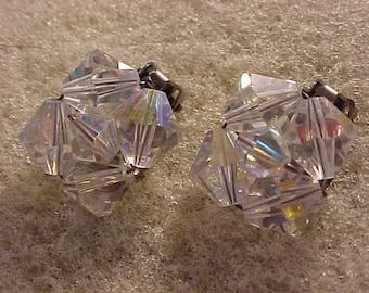 Cluster Bead Clip On Earrings