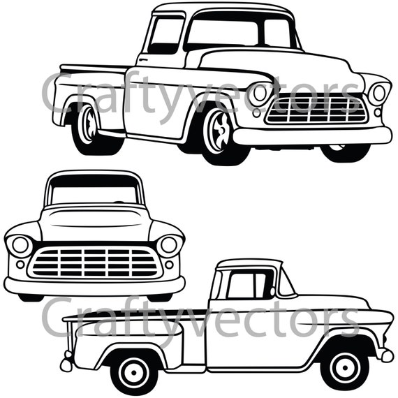 1956 Chevrolet Truck Vector File