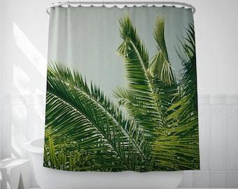 Palm Leaf Art, Shower Curtain Liner, Home Shower Curtains, Bath Accessories, Photo Shower Art, Bath Decoration