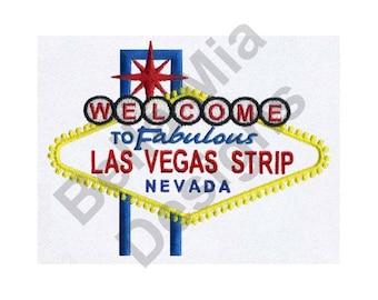 Las Vegas Strip, Nevada - Machine Embroidery Design