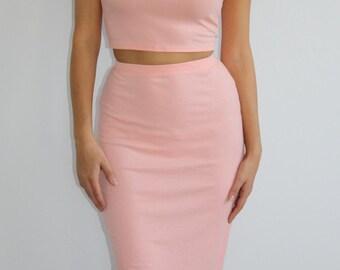 Pretty in Pink Crop Top Set