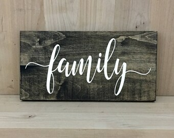 More Colors. Family Wood Sign Home Decor ...