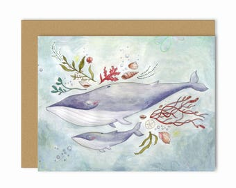 Whales Single Card
