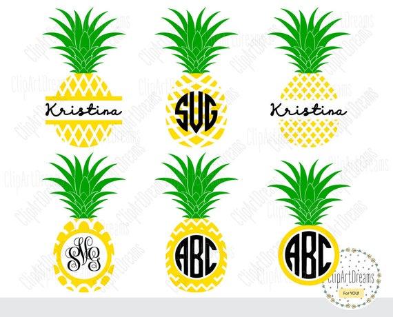 Download Pineapple Monogram SVG Frame Svg Cut Files Svg files for