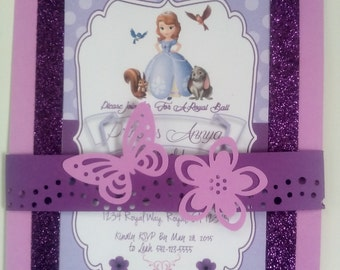 Sofia The First Inspired Invitation