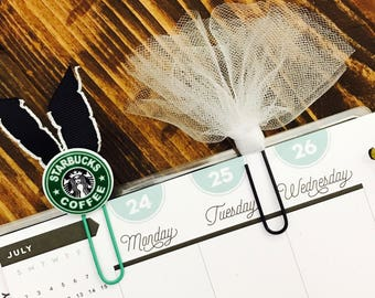 Starbucks and Tulle Paperclips