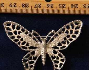 Silvertone Sarah Coventry Butterfly Pin