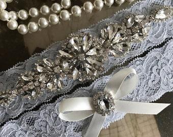 Wedding Garter-Garter-Garters-Rhinestone Garter-Ivory-Lace-garter belt-garter-ivory garter-lace-bridal garter-accessories-pearl-vintage