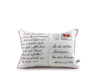 postcard pillow® wedding & lettered by us