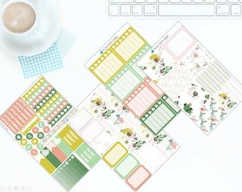 Love for Llamas - Weekly Kit Stickers for Erin Condren Vertical LifePlanner *NEW PREMIUM PAPER!*