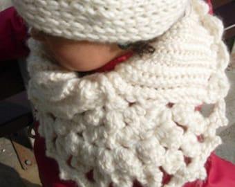 Vanillee cote-de-maille - cowl crochet pattern