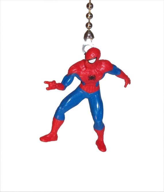 Spiderman ceiling fan light pull gift for boys kids room decor aloadofball Gallery