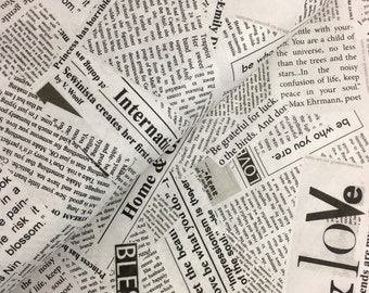 """End of Bolt, Newsprint from the Story Collection by Carrie Bloomsten for Windham Fabrics - Newspaper Text, Dreamer 22""""x44"""""""