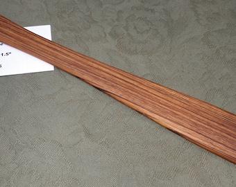 Zebrawood Miss Rose Paddles Exotic Hardwood Spatula Ruler Discipline Stick ZE125