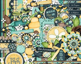 On Sale 50% Just Be You Digital Scrapbooking Kit