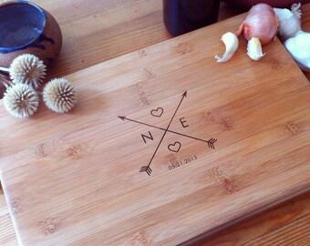 Personalized Cutting Board, Custom Cutting Board, Couple Cutting Board, Newlyweds Gift, Custom Butcher Block, Cheese Board, Foodie Gift