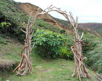 Driftwood Arch, Driftwood Arbour, Driftwood Wedding Arch, Driftwood Garden Arch, Fits together easily in three sections.