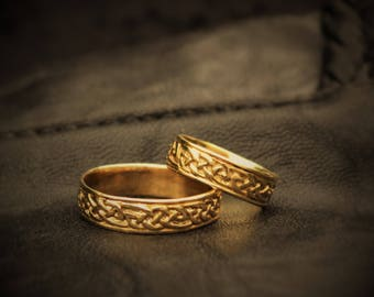 Celtic weddingrings 14 kt gold