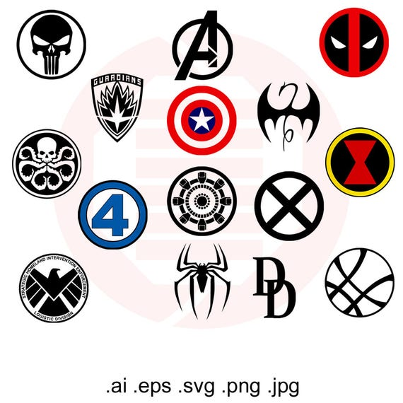 marvel superhero avengers svg infinity war symbols clipart