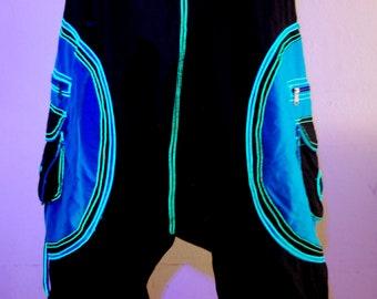 Harem Pants Trousers UV Psytrance Unisex Cotton