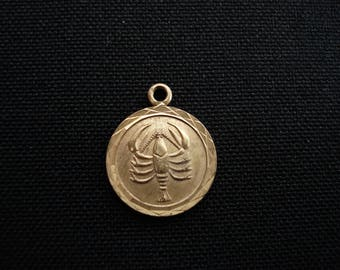 medal pendant pot marian the zodiac maurer necklace jewelry medallion scorpio clay