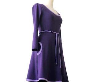 Womens clothing, Long sleeve dress, Plus size dress, Plus Size Clothing, Pocket Dress, Jersey Dress, Custom Plus Size Dress, A line dress
