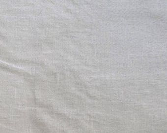 Fabric - 100% Linen - Ivory - medium weight woven linen
