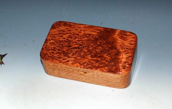 Wood Treasure Box-Mahogany with Redwood Burl-Handmade by BurlWoodBox- Desk Box, Gift Box, Small Wood Jewelry Box, Small Wood Box, Wooden Box