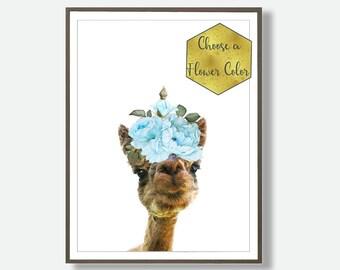 Alpaca Prints, Farm Animals, Alpaca Print, Alpaca Wall Art, Alpaca Decor Print, Printable Nursery Poster, Country Art, Digital Art, Nursery