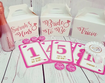 Personalised Hen Party - gift box - gift bag - gift - hen do - party bag - bride to be - hens - hen party - hens on tour - bachelorette