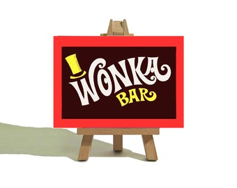 WILLY WONKA Mini Canvas and Easel Set -  Wonka Bar - Awesome Gift