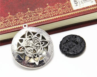 1pcs Lava Stone Essential Oil Diffuser charm Kuwait knot Aromatherapy Gift pendant ASD2928