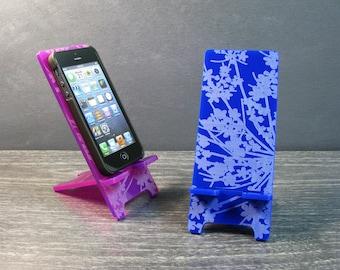 Pretty Flower Cell Phone Stand in 5 Sizes, iPhone 6, iPhone 6 Plus, iPhone 5, 4, Samsung Galaxy Android S5 S4 - Docking Station - 9 Colors