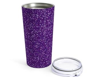 Purple Glitter Printed Tumbler 20Oz