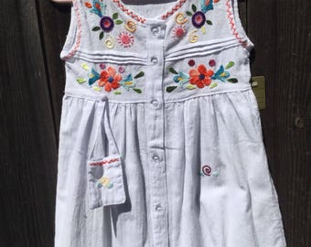 Size 3 Beautiful cotton handmade floral dress