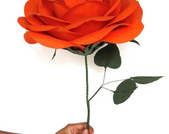 Huge Paper Flower - Orange Giant Bouquet