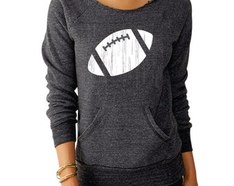 Football Wide Shoulder Sweatshirt - 3 colors to choose from!