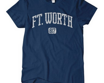 Women's Ft. Worth 817 Tee - S M L XL 2x - Ladies Fort Worth Texas T-shirt - 4 Colors