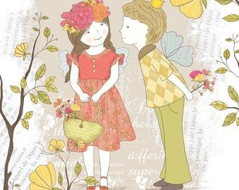 Children's illustration art - Love Spring