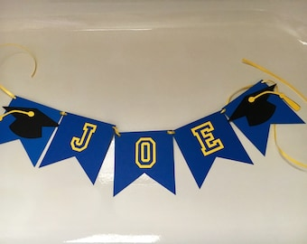 Personalized Name Graduation Banner - Customizable Colors!