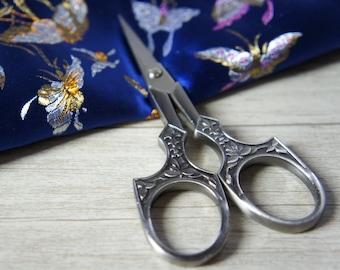 Embroidery scissor,  Gray Stainless Steel Scissors, decorative scissor, Scissors 11.5cm x5.8cm, sewing supplies, sewing scissor