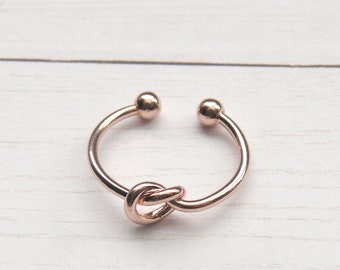 Love Knot Ring, Knot Ring, Double Knot Ring, Bridesmaids Knot Ring